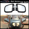 Black and Chrome motorcycle rearview mirrors suitable For BMW K 1200 K1200LT K1200M 99-08