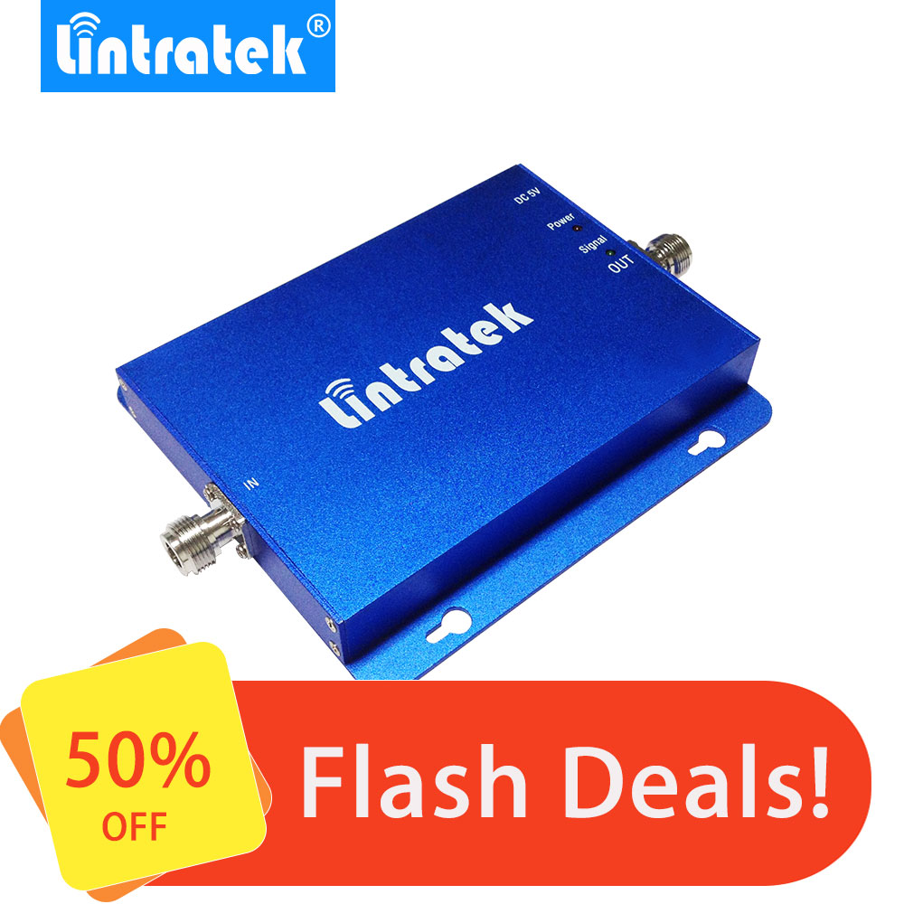 Lintratek Promo Cell Phone Signal Booster GSM 900MHz 4G LTE 1800MHz Band 3 65dB High Gain Dual Band Signal Repeater Wholesale#50