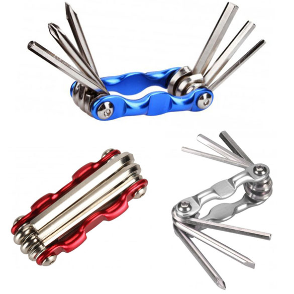 Portable 6 in 1 Multi-function Moutain Road Bicycle Bike Repair Tool Set Kits Hex Key Wrenches 3/4/5/6mm Folding Screwdriver