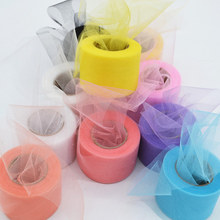 22 Meters Colorful Shiny Crystal Tulle Spool Organza Gauze DIY Girls Tutu Skirt Wedding Party Baby Shower Table Decor Supply