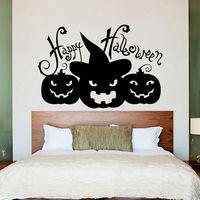 Wall Decals Halloween Pumpkins Horror Holiday Design Bedroom Home Decor