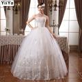 Envío Libre CALIENTE nuevo 2015 princesa blanca de moda vestido de novia de encaje romántico de tulle vestidos de novia Vestidos de Novia HS099