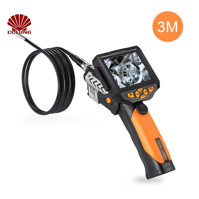 Portable Digital Video Recording Endoscope with 3 5 Inch Full Color LCD Screen 8 2mm Diameter Slim Probe with 6 Adjustable LED in Surveillance Cameras from Security Protection