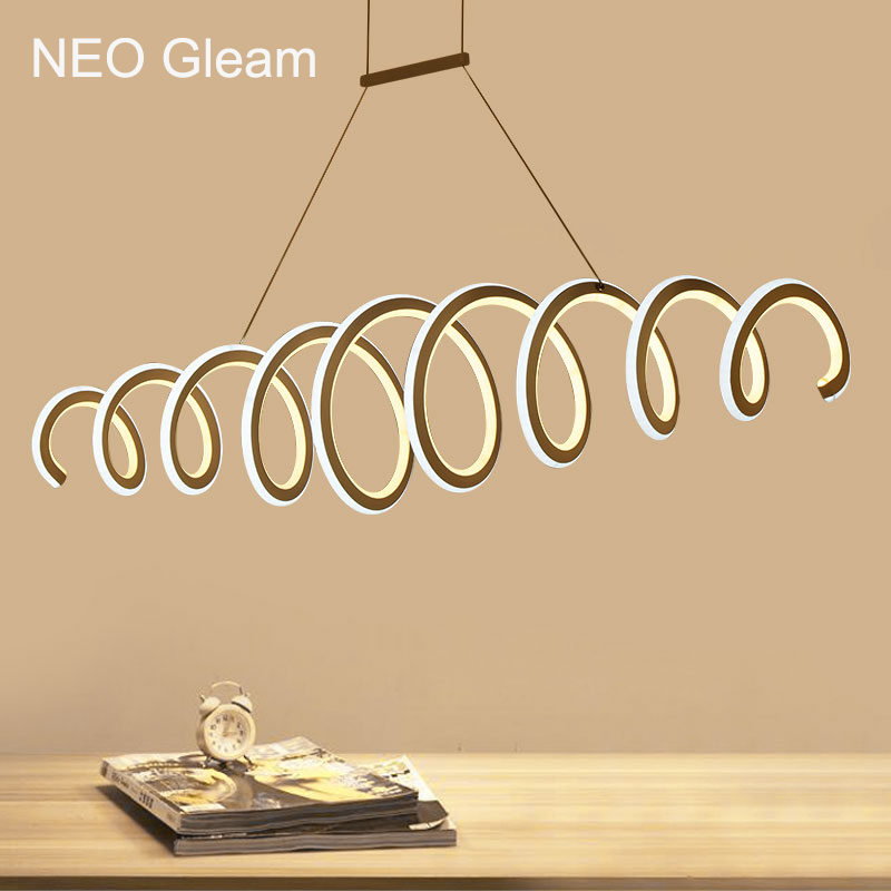 NEO Gleam Double Glow Modern Led Pendant Lights Kitchen Dinging Room Fixtures Aluminum High Brightness Led Pendnat Hanging Lamp