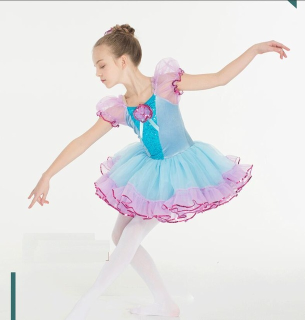 bd39a844f6d2 Rainbow Tutu Ballet Dance Costume Sequins Stage Performance Ballet ...