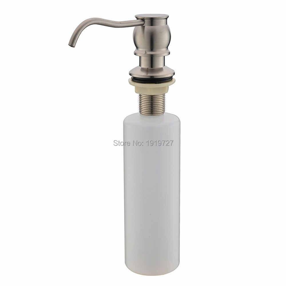 Klasyczny mosiądz nikiel blat zlewozmywak dozownik mydła butelki zbudowany do montażu na ścianie dozownik do mydła w płynie do rąk pompy