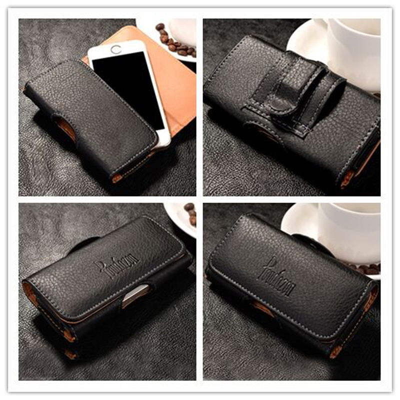 New Top grade Universal Holster skin Waist hanging Belt Clip Leather Pouch Cover Case For BQ Aquaris 4.5