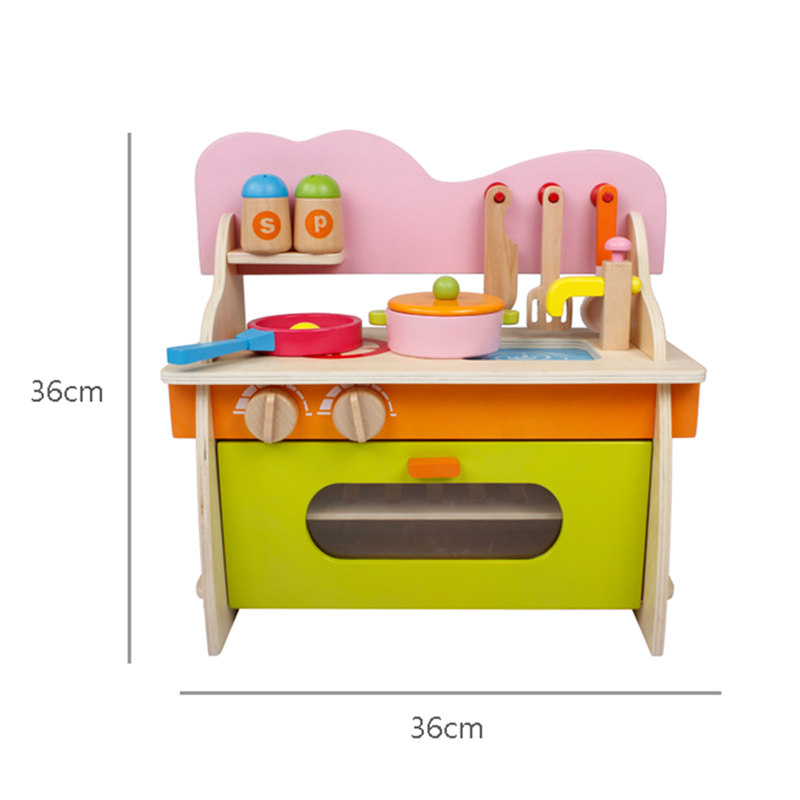 Candywood Mother Garden Baby Kids Wood Kitchen Cooking Toys Wooden  Kitchenette Gas Stove Educational Toys For Girl Gift In Kitchen Toys From  Toys U0026 Hobbies ...