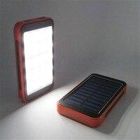 100000mAh Solar Panel Power Bank Waterproof Dual USB Charger Large Capacity Portable External Power Bank With