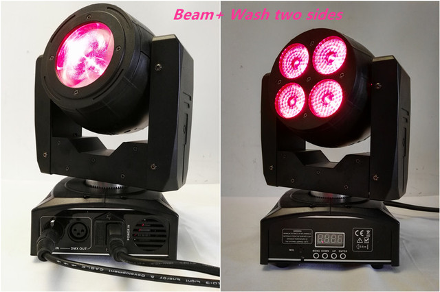 10pcs/lot One Side 40w Led Beam Moving Head Another Side 4*15w Wash