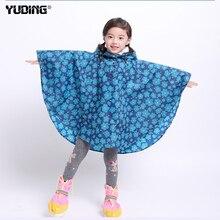 Yuding Raincoat For Childrens With Schoolbag Kids Waterproof Rain Coat Girls Boys Lightweight Poncho Childs