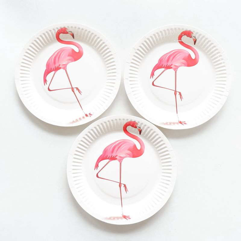 10pcs/lot Flamingo Disposable Paper Plates Dishes Utensils Pink Paper Tableware Sets Plate For Wedding Birthday Party Decoration-in Disposable Party ...  sc 1 st  AliExpress.com & 10pcs/lot Flamingo Disposable Paper Plates Dishes Utensils Pink ...