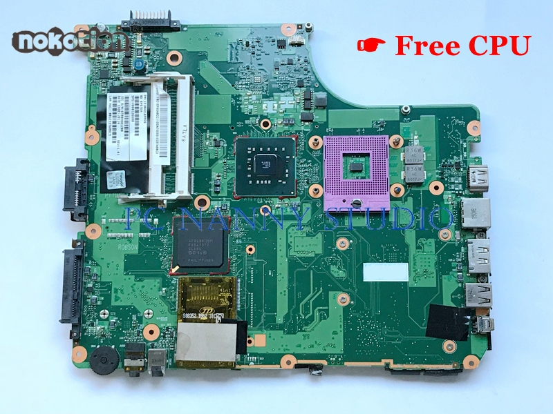 NOKOTION for Toshiba Satellite A300 System Board V000126600 6050A2169901 GM45 DDR2 free cpu Laptop mainboard Motherboard