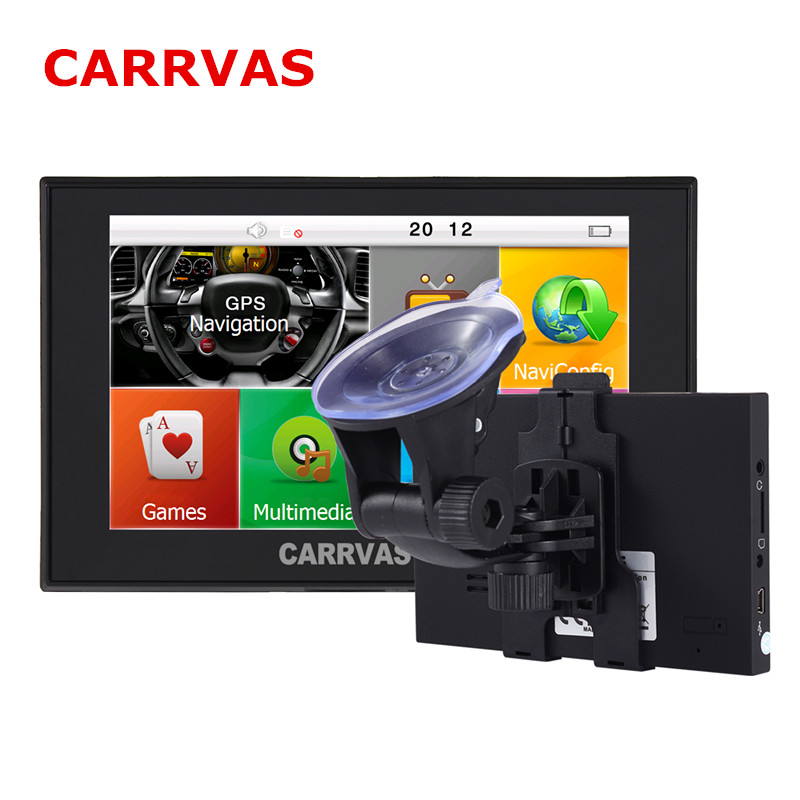 CARRVAS 5 inch Capactive Screen 800Mhz Car Gps Navigation Sat Nav 8GB with maps for Europe