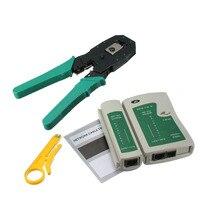 RJ45 RJ11 RJ12 CAT5 CAT5e Tragbare LAN Netzwerke Tool Kit Utp Kabel Tester UND Zange Crimp Crimper Stecker Clamp PC LAD verkauf-in Zangen aus Werkzeug bei