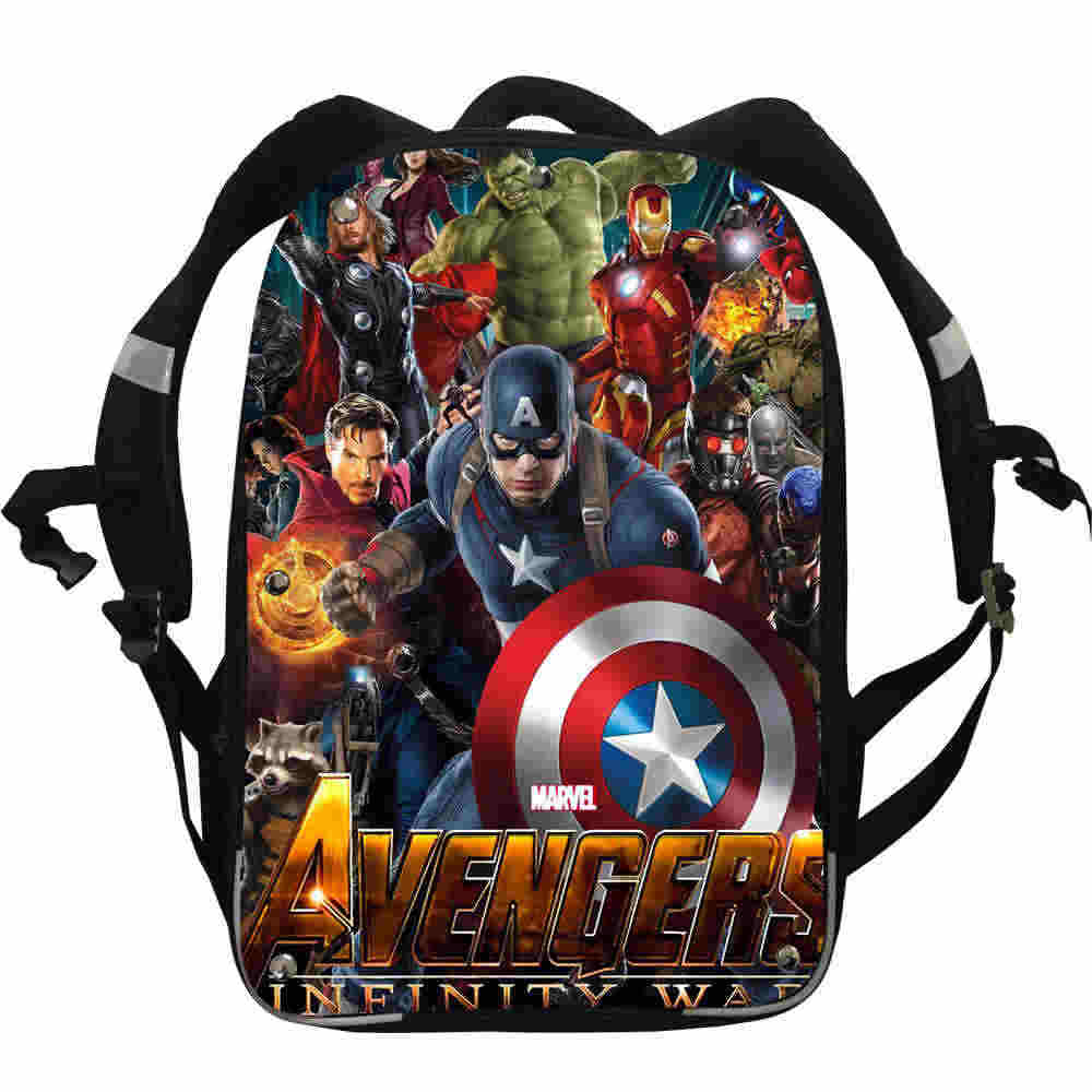 44d8c6706265 Avengers Backpack Captain Iron Spider Man Infinity Anime Casual School Bags  Toddler Boy Girl Teenager Mochila