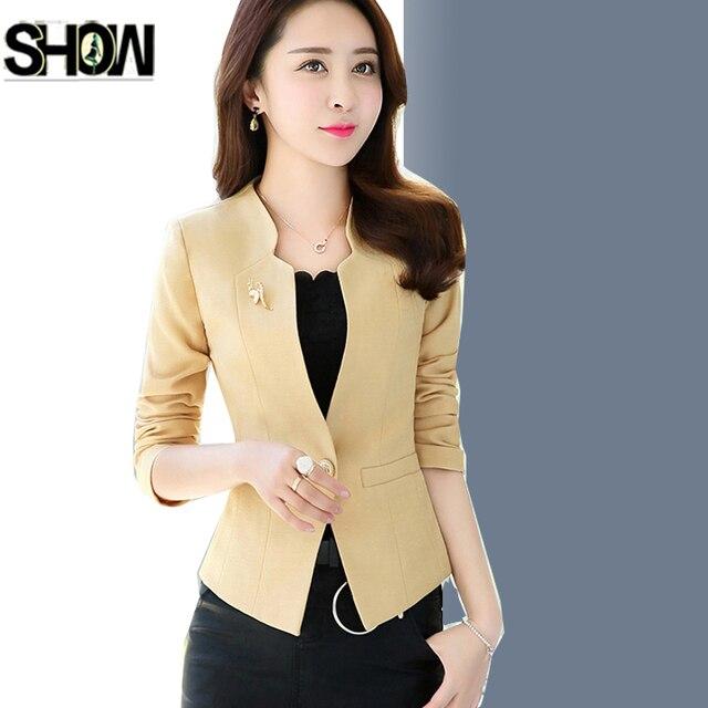 Short Blazers Jacket New 2018 Women Hot Design Long Sleeve Slim