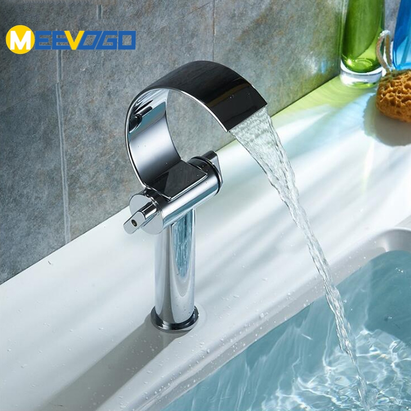 Comprar MEEVOGO cascada baño grifo lavabo del fregadero mezclador grifo de agua fría caliente grifo SLTC132 de Cuencas de grifo fiable proveedores en MEEVOGO Sanitary Wares Store