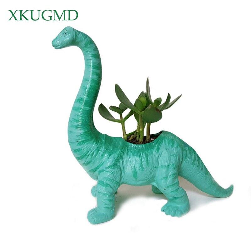 Plastic Dinosaur Animal Flower Pot For Cactus Succulent Plant Pot Flower Bonsai Pots Container Planter Garden Decoration