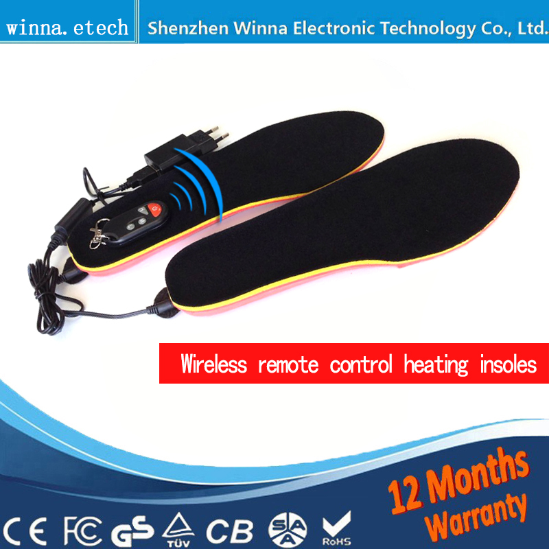 Outdoor heating insoles with battery remote control insoles keep feet warm comfortable insole SIZE EUR 35 46 FREE SHIPPING