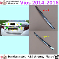 Car Cover Stainless Steel ABS Chrome Rear License Plate Door Bottom Tailgate Plate Trim Lamp 1pcs