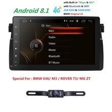 9 pollici Android 8.1 Auto Radio Stereo Per BMW E46 MG ZT M3 2000-2006 Quad-Core WIFI NO-DVD Lettore Bluetooth OBD2 TPMS + Trasporto Cam + Mappa