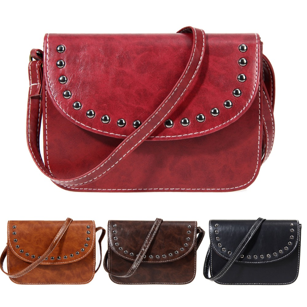 2017 Famous Brand Vintage Luxury Women Handbag Mesenger Bags Rivet Designer Trunk bolsos Shoulder Bag Sac A Main Femme De Marque purse and handbag 2017 patent leather bag composite luxury handbag women bag designer shoulder bag sac a main femme de marque