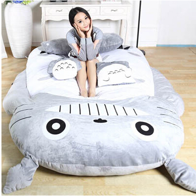 Sofa Soft Cartoon Bed Totoro Double Sleeping Bag Pad Filling Stuffed Plush Tatami Large Size Toy Doll In Bedding Sets From Home