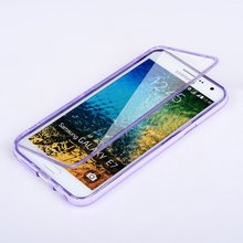 UMGG 360 Full Protection Silicone Clamshell Anti-knock Case For Samsung GALAXY E7/E5 E5000 E7009 Free Gift Free Dustproof Plug