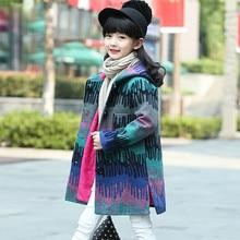 2018 Girls Winter Coats Gaueey Woolen Jackets Clothes Korea Style Kids Wool Outwear Toddler Children Windbreaker