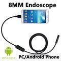 USB 2-МЕГАПИКСЕЛЬНОЙ Android Мобильного Эндоскопа Android 8 ММ Объектив 1/2/3/5 М Змея Водонепроницаемая Камера инспекционной Бороскоп для Ноутбука с OTG/UVC