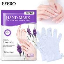 EFERO 1Pair Hand Mask Moisture Gloves Spa Whitening Skin Care Anti-Wrinkle Lavender Plant Extract Moisturizing for Hands