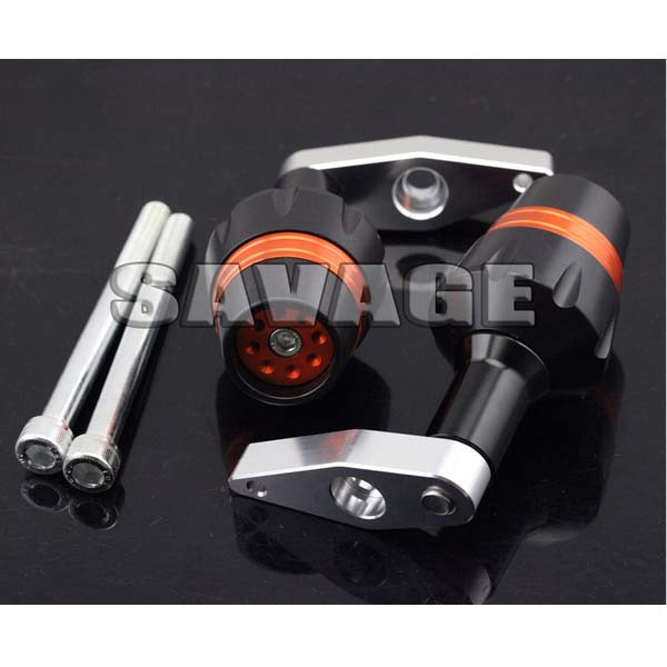 New Design Motorcycle Frame Sliders Crash Protector Falling Protection For KAWASAKI ER-6F 2012-2014 Orange
