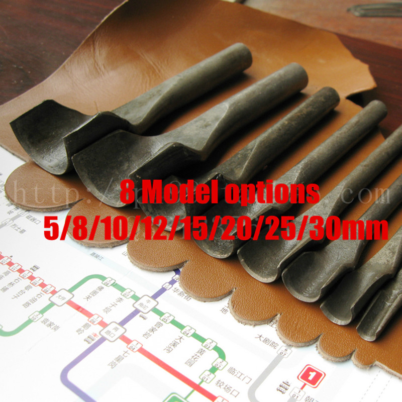 Handmade leather DIY tools Half circular punch Fillet cut semicircle punch Round punches ...