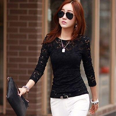 Lace blouse women's shirt blusas womens tops and blouses long sleeve winter autumn blusas mujer de moda 2018 plus size 5XL 9