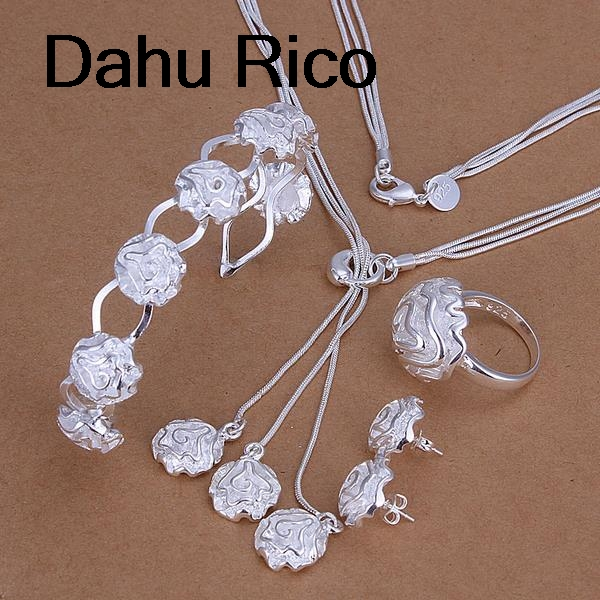 rose taki seti juego de joyeria de mariage druzy african free shipping jewelry french Dahu Rico jewelry sets silver color