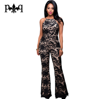 Rompers Womens Jumpsuit Summer Spaghetti Strap Elegant Sexy Club Jumpsuits Lace Overalls Backless Long Pants One