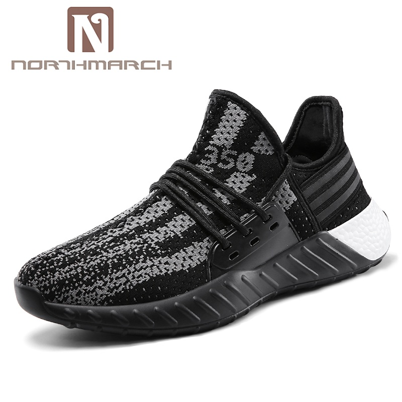 NORTHMARCH Fashion Brand Fly Weave Men's Casual Shoes Breathable Kanye West Shoes Sneakers Men Schoenen Mannen Calzado Hombre
