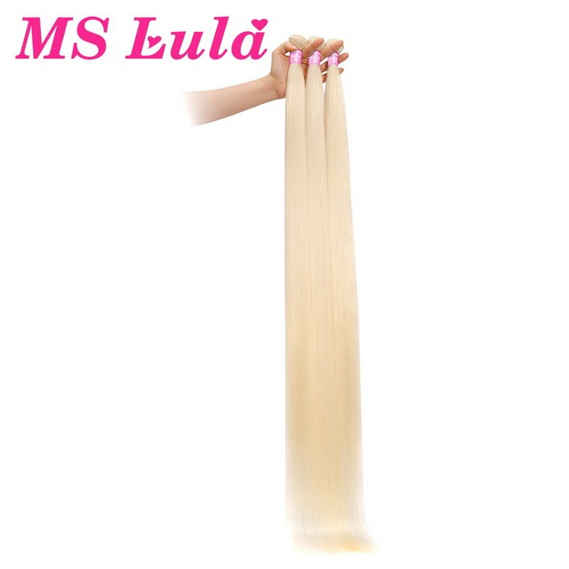 MS Lula Blonde Brazilian Hair Straight Long Bundle 40inch Human Hair 1 Bundle Color 613 Remy Hair Weave Double Weft One Piece