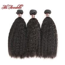 Tissage en lot brésilien 100% Remy naturel crépu lisse – ALI ANNABELLE HAIR, Extension de cheveux