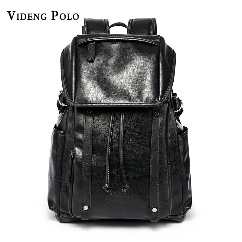 Luggage & Bags Practical 2018 New Mens Large Capacity Backpack Teen Student Bag Men Travel Backpack Vintage Daypack Women Pu Leather Laptop Bags Mochila Men's Bags