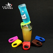 4 pieces / lot ABS Bottle Buckle Beer Cocktail Snap Bar Drink Clips Bottle Holders wine bar kitchen accessories 7 Colors 5pcs set abs bottle buckle beer cocktail snap bar drink clips bottle holders wine bar kitchen accessories kitchen tools plastic