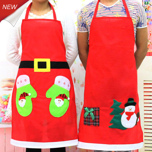 Christmas Decoration Apron Kitchen Aprons Christmas Dinner Party Apron  Santa Christmas Kitchen Apron