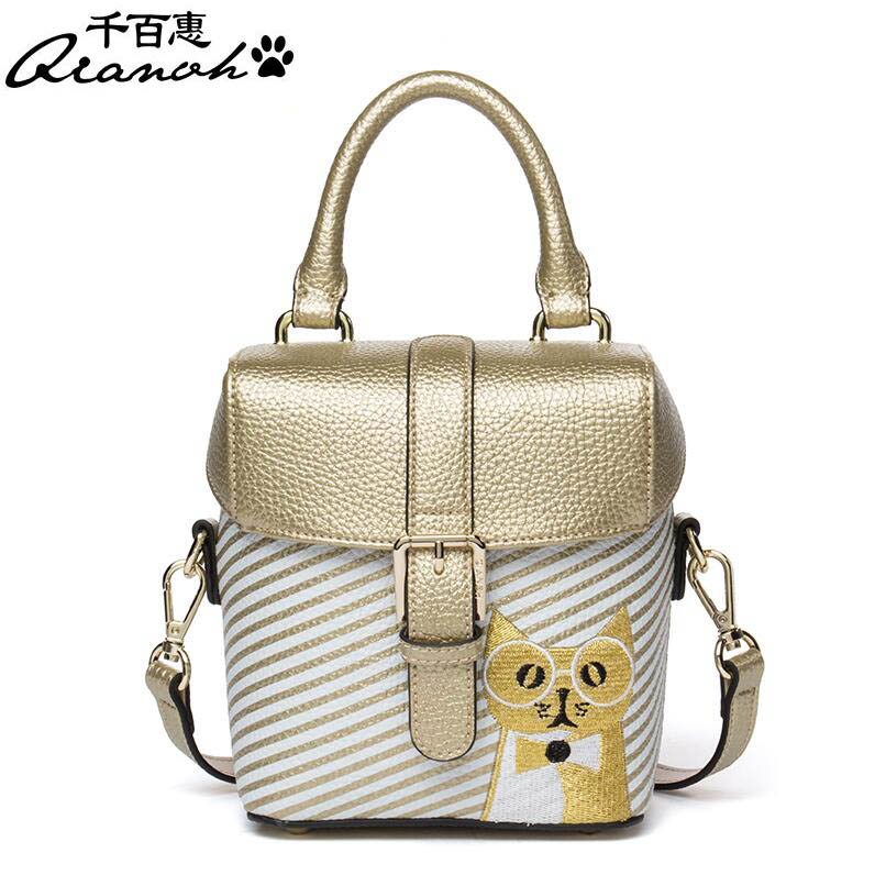 Women bag  Fashion Messenger bag 2017 new fashion shoulder Messenger bag Mini personality small square bag Box pack mini square box