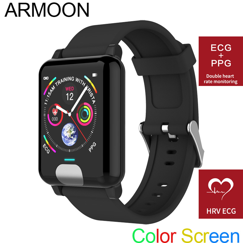 Smart Watch E04 ECG PPG Heart Rate Smart Bracelet Sleep Monitor Fitness Tracker Blood Pressure Watch