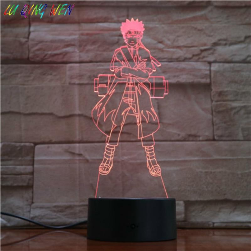 Analytisch Japanische Manga 3d Led Nacht Licht Naruto Farbwechsel Junge Kinder Schlafzimmer Dekoration Lampe Nachttisch Nacht Lampe Naruto Geschenk