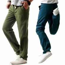 Daddy Chen 2018 Summer Mens Casual Cotton Linen Pants Men Leisure Wide Leg Long Pant Loose