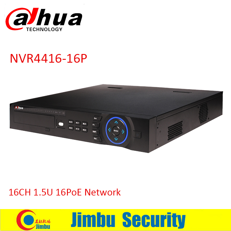 Dahua NVR 16ch 16 PoE ports NVR4416-16P 4HDDs support up to 5MP Recording onvif network video recorder from Dahua gold supplier 16ch poe nvr 1080p 1 5u onvif poe network 16poe port recording hdmi vga p2p pc