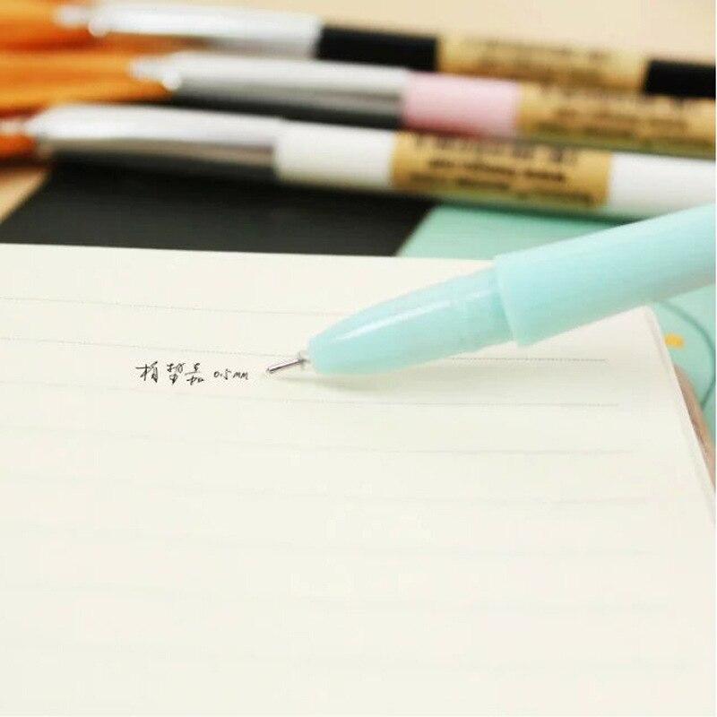 4 piunids/lote bolígrafo de gel novedoso con cepillo limpio para ordenador bolígrafos de tinta de 0,5mm escolar