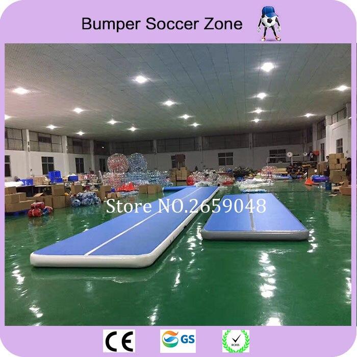 Livraison gratuite 10*2 m tapis gonflable de gymnastique de voie d'air de Trampoline de voie de dégringolade gonflable venez avec une pompe
